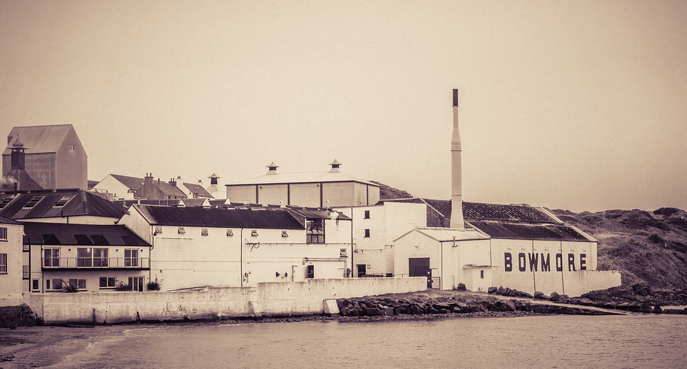 Bowmore distillery viewed from Bowmore Pier
