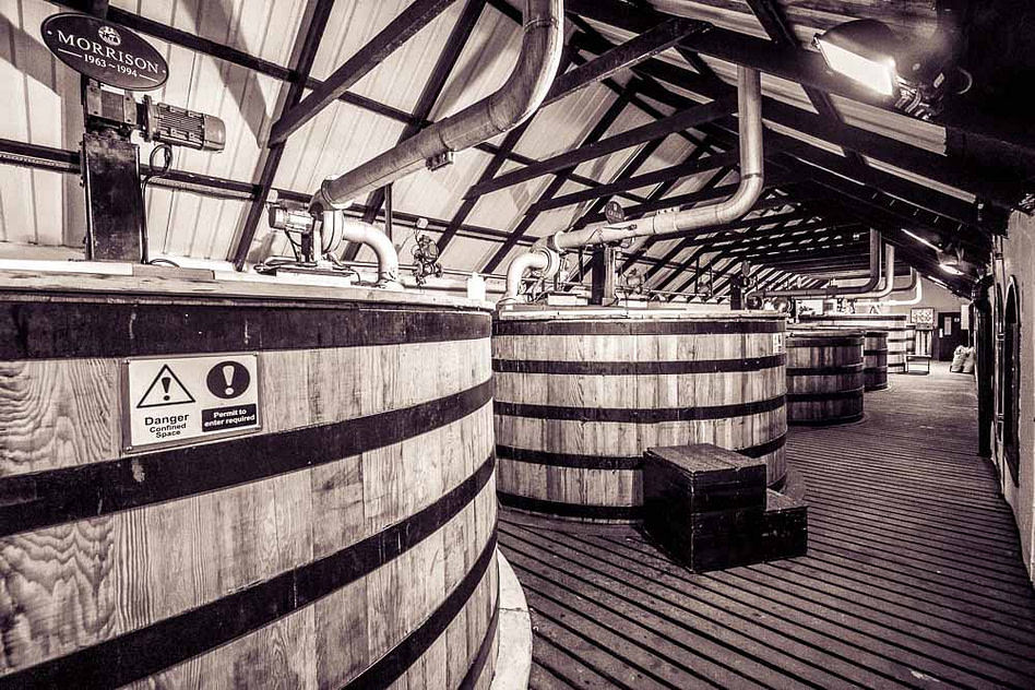 Washbacks Bowmore Distillery