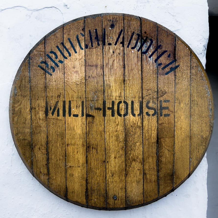 mill house sign at bruichladdich distillery
