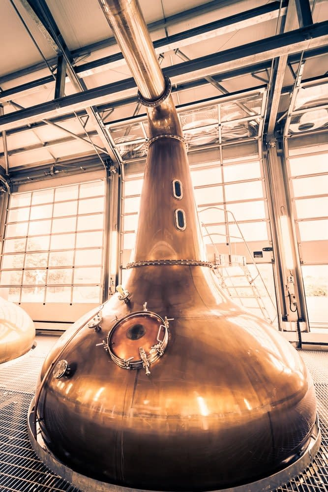 Up close and personal with one of the stills at Glen Ord