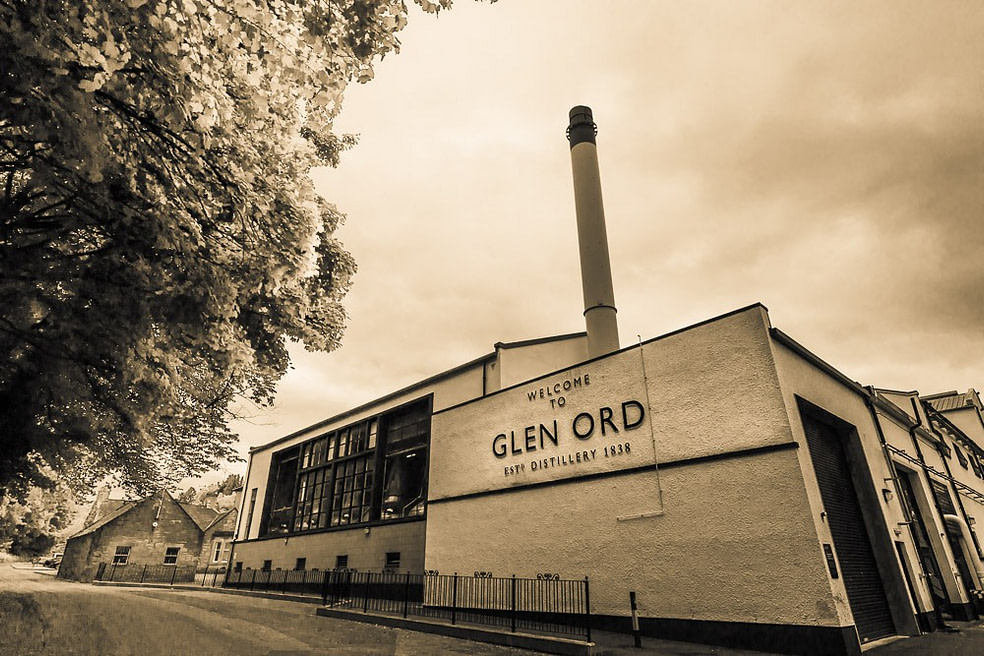 One of the still houses at Glen Ord Distillery.