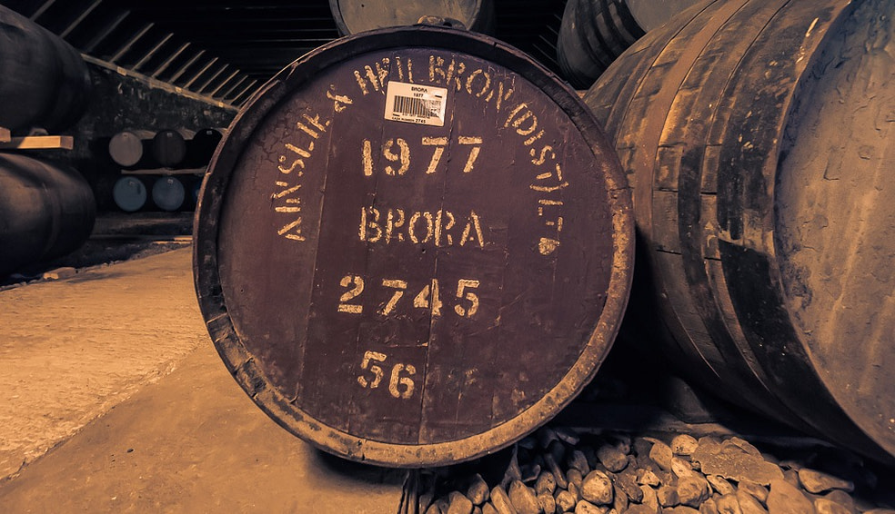 Clynelish Brora distillery 1977 cask close up